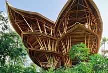 Sharma Springs, Ubud, Bali / The bamboo house in Ubud's Green Village, designed and built by Elora and her father John Hardy