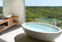Hotels -  Bathroom Design / How some of the world's most coveted hotels showcase their brand and aesthetic principles through bathroom design.