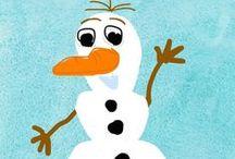 Elsa, Anna, Olaf ( Disney Frozen Movie) Art on Mini Monet / Created by child artists in Mini Monet iOS App.  / by Sprite Kids