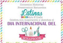 Día Internacional del Scrapbook / Contando Historias Preservando Recuerdos, Celebracion de Scrapbook con hermosos layouts