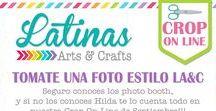 Crop On Line Marco con Flores / Flores de Cartulina decorando un marco o frame, elaboradas por le equipo de diseño
