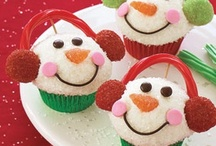 Winter, snow cupcakes