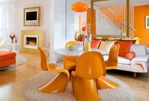 Tangerine / 'Good natured and friendly, but with a tangy edge, this fun-loving colour invites a smile.' Pantone has predicted Tangerine to be a colour that is going to liven up your interiors in 2015.