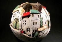 keramika - domečky