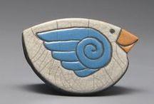 keramika - sova, pták,..