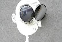 Street Art / L'art qui aide à sourire, à exister. Le regard reste vivant et neuf... des noms : Banksy, OakOak, ROA, GAB, Nick Walter, Peter Gibson, Nelio, Fred le Chevalier, Timm Schneiders, Artof Popof, Monsieur Chat, Phlegm, Leo & Pipo, Ador, Eric II Cane, Mr Brainwash, David Zinn, Matt Stuart, Bonom, Slinkachu, Mosko, Jerome Mesnager, Alice, ICY and SOT, Olesya Shchukina, Herakut, Face & Jace, Miyo, Miss Tic, Mimi the clown, R Dolape Astroza Vasquez, Starman, 237project, Jef Aérosol, Sandrine Boulet, C215 / by Angharade Les Petits Cailloux