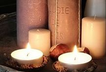 Candle holders /  CANDLE LIGHT GIVES WARMTH