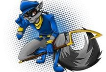 ♢ Sly Cooper ♢ / The world of Sly Cooper is a version of the real world that is populated by anthropomorphic animals, with film noir and comic book motifs. In addition, the world of Sly Cooper is filled with super-science and magic. The focus of the story is Sly Cooper, a young adult raccoon and the latest descendant in a line of master thieves who pass down their expert techniques from generation to generation using the Thievius Raccoonus, a book which contains all the Cooper Family's secrets and tricks.