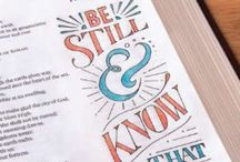 Bible journaling / Examples and ideas for drawing in a Bible