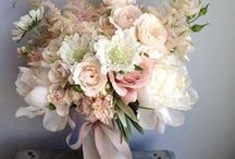 Wedding and Bridal flowers (not including decor) / Including DIY step by step projects for creating bridal bouquets, floral 'halos', corsages, flower 'rings', etc / by Mara McKay