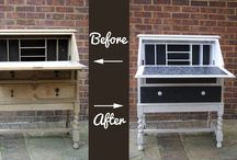 FPP #Furniture Makeover / Up-cycling old furniture is really fun! Here are lots of ideas and tips for your next home decorating ideas / projects :)