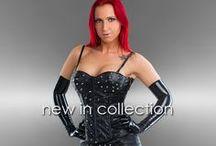 Leatherlook partywear: corsets and tops / Betaalbare leatherlook kleding voor dames.