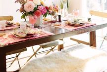 FPP #Valentines #Day #Dining / Ideas for a romantic dining room scene #interiors