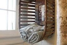 FPP #Recycle #Upcycle #Decorate / How to use items in a new way to make an awesome home that's beautifully decorated... in a creative way too!
