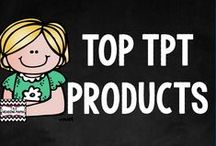 TOP TPT PRODUCTS / Add your TOP selling TPT products here! You can add two pins each day and you must re-pin a product for every item you pin!