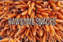 Rawsome snacks ;-) / raw + awesome = rawsome