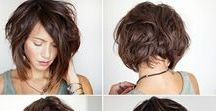 Haircuts & Styles / Asymmetrical // Bob// Pixie hair styles, Side shaves and Inspiration of Shades