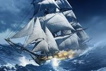 Naval/Marine Book Cover Art by Larry Rostant / Book Cover Art