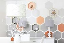 FPP #Wall #Design / Redecorating and need ideas for a quirky wall design, styling and pattern!