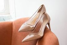 Wedding Shoes / White, blush and natural shoes. Perfect for walking down the aisle.