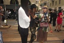 Milan Fashion Week SS 12/13 / front of Dolce &Gabanna's fashion show, Slavatore Feregamo, Armani