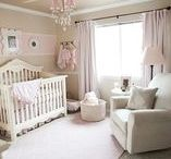 Baby Girl, Pink and Grey / pink, grey, gray, baby girl, decor, nursery, gifts