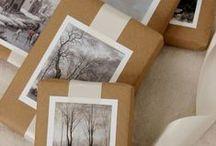 Paquets cadeaux / J'aime faire des jolis paquets pour des cadeaux. / by Monique Soler