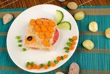 Food kids / Surprenez vos #bambins avec ces jolies #assiettes...Tableau rempli d'#astuces pour faire manger des #légumes aux #enfants ! #SurprenezVous avec #Bonduelle #recettes #cuisine #food #recipes #cooking #vegetables