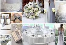 Gorgeous Grey Wedding Theme Ideas / Gorgeous Greys ~ Wedding Theme, hues of grey, silver and platinum