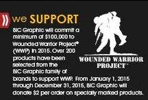 Wounded Warrior Project® / Over 200 products have been selected from the BIC Graphic family of brands to support Wounded Warrior Project.  From January 1, 2016 through December 31, 2016, BIC Graphic will donate $2 per order on specially marked products.