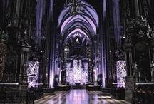 Inspiration / #architecture #purple #black and white #decor #interior #furniture #home #style #goth #gothic #dark #vampire