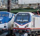American railroads / train, railway, railroad, USA, Amtrak, engine, locomotive
