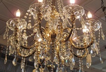 Let there be Light! / If you've ever visited Southern Accents showroom then you've seen our collection of antique lighting and crystal chandeliers. Pictured here are a few that have graced our showroom as well as lighting created from salvaged materials.