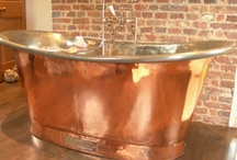 Bath Time / Visit www.sa1969.com to view our inventory of antique tubs, sinks and bath fixtures. This is a collection of some of our favorite rustic themed bathrooms!
