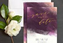 Wedding stationary / stylish wedding stationary, invitations, menu