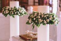 Wedding candle decor for greek weddings / Amazing wedding candle decor, stolismos lampadas
