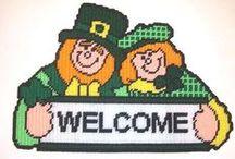 Plastic Canvas St. Patrick's Day