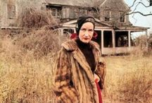 Grey Gardens / Welcome to grey gardens. Where Edith and Edith bouvier Beale lived who were the cousin and aunt of jaquiline Onassis. It became dilapidated and run down as they lived there and was the subject of the cult classic documentary Grey Gardens. They were a mother daughter pair of eccentrics. I absolutely love them.
