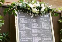Chalkboard seating chart / The most beautiful chalkboard seating boards