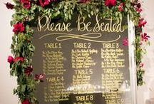 Mirror seating charts / Stylish mirror seating charts for your wedding day