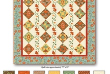 """Dominique by Denise Urban  /  Stunning Block of the Month.   Go to your local quilt shop today to sign up.  Fabric ships November 2013.                                                                                         Quilt is approximately 77"""" x 85"""". Quilters can choose to make the full/queen size quilt or assemble their blocks into the alternate throw or bed runner projects.      / by Quilting Treasures"""