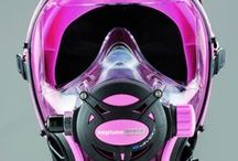 modern technology / contemporery scuba diving gear for her and for him   / by Stream of Bubbles