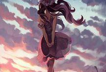 t e m p u r a / 天ぷら anime and other cool drawings.