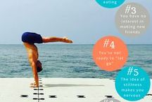 Yoga Infographics / Yoga infographics help you master that yoga pose that's been giving you trouble, learn what vinyasa flows are best for when you are stressed, and help you meditate even if you've never done it before!