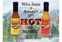 Pepper Sauces / Who said it doesn't get hot in Maine? Have you tried Fire Eater or Habanero Heaven?