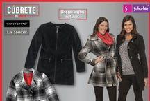 Cúbrete de moda 2014 / ¡No dejes que el frío arruine tus planes! Cúbrete de moda usando suéteres, chamarras y abrigos que puedes encontrar en Suburbia a un precio increíble.
