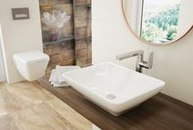 Nature - bathroom design ideas / The bathroom is supposed to be more than the cleaning utilitarian room of the house. Its purpose should transcend the basic needs and extend to the relaxation zone, a space where time melts, problems and concerns can not enter and where the supreme goal is the total pause of the body and mind.