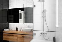 Black and white - bathroom design ideas / Black and white is a classical color scheme that is always popular and fashionable. Choosing this scheme for you home is a brilliant idea as it's very elegant and stylish.