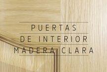 Madera Clara | Puertas de interior / Selección de puertas de madera de color claro de Puertas Castalla | puertas de interior de madera clara | Personalzia los acabados con nuestra gran variedad. Consúltanos en info@puertascastalla.com