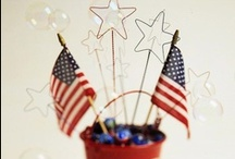 Holiday--RED WHITE & BLUE / by Katy Johnson